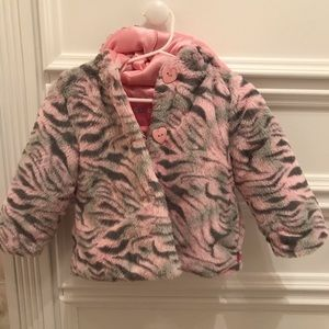Other - Baby faux fur hooded coat, 18 months